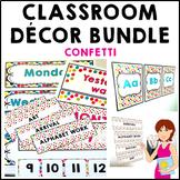 Confetti Classroom Decor Theme Bundle
