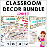 Confetti Classroom Decor Theme Bundle