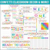 Confetti Classroom School Decor & More Pack!