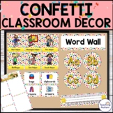 Confetti Classroom Theme Decor Editable Pack