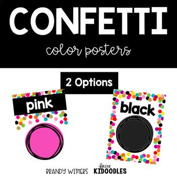 Confetti Color Posters