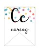 Confetti Cursive Alphabet Banner