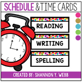 Confetti Daily Schedule and Time Cards