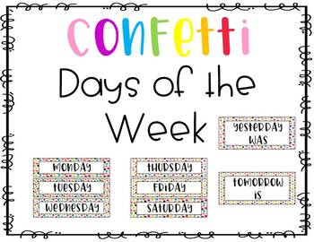 Confetti Days of the Week