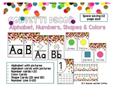 Confetti Decor: Alphabet, Numbers, Colors, and Shape Posters