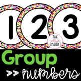 Confetti Decor Group Numbers