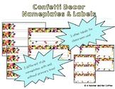 Confetti Decor Nameplates & Blank Labels