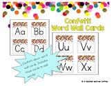 Confetti Decor Word Wall Labels