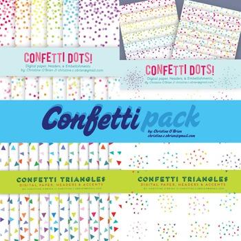 Confetti Digital Paper Pack