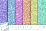 Confetti Digital Papers, Glitter Papers, Digital Glitter, Sparkle Papers