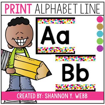 Confetti Alphabet Line (PRINT)