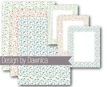 Confetti Dot Digital Papers - Backgrounds, Borders, Labels
