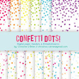 Confetti Dots! Digital Paper, Headers, and Embellishments Set