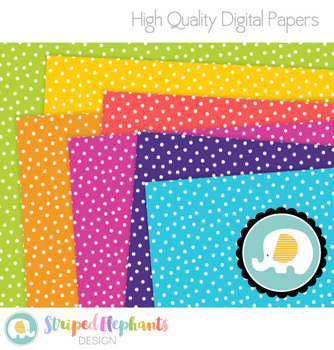 Confetti Dots Digital Papers