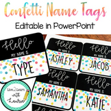 Confetti - Editable Name Tags