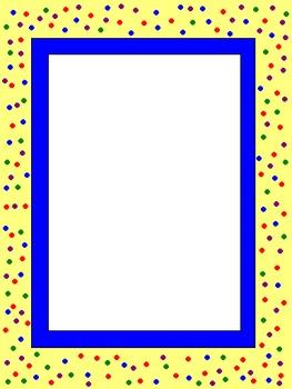 Confetti Frame / Boarder Graphics