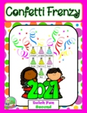 Confetti Frenzy ✦ New Years Sight Word Fun (Second)