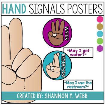 Confetti Hand Signals Poster Set