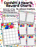 Confetti & Hearts Reward Charts