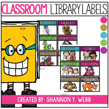 Confetti Library Book Labels