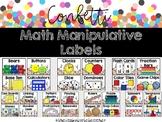 Confetti Math Manipulative Labels