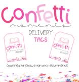Confetti Moments Delivery Tag