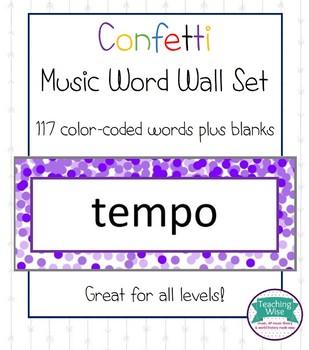 Confetti Music Word Wall