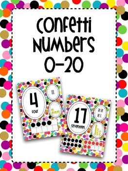 Confetti Number Posters 0-20