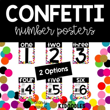 Confetti Number Posters