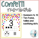 Confetti Numbers to 10
