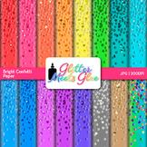 Confetti Scrapbook Paper Backgrounds 4 {Glitter Meets Glue}