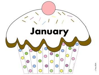 Confetti Polka Dot Birthday Cupcake Display