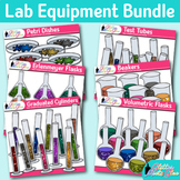 Chemistry Lab Equipment Bundle: Backgrounds for Resources