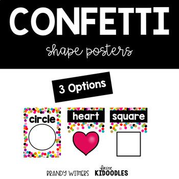 Confetti Shape Posters
