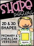 Confetti Shape Posters - Confetti Classroom Decor