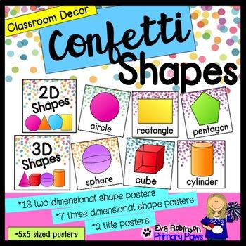 Confetti Shapes Classroom Decor
