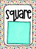 Confetti Shapes and Colors Classroom Signs Decor