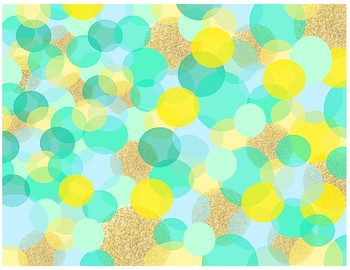 Confetti Teal & Yellow Background
