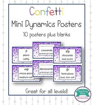 Confetti Mini Dynamic Posters