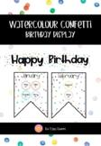 Confetti Theme Birthday Display