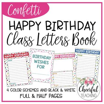 Happy Birthday Letters (Confetti theme)