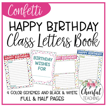 Happy Birthday Letters Class Book