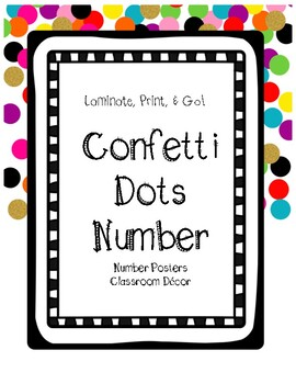 Confetti Themed Number Posters 0-20
