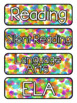 Confetti Themed Pocket Chart Subject Schedule Cards & Calendar