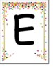 Confetti Themed Welcome Banner