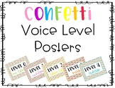 Confetti Voice Level Posters