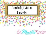 Confetti Voice Levels