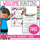 Confetti Welcome banner FREEBIE
