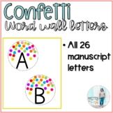Confetti Word Wall Letters
