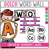 EDITABLE Confetti Dolch Word Wall Set